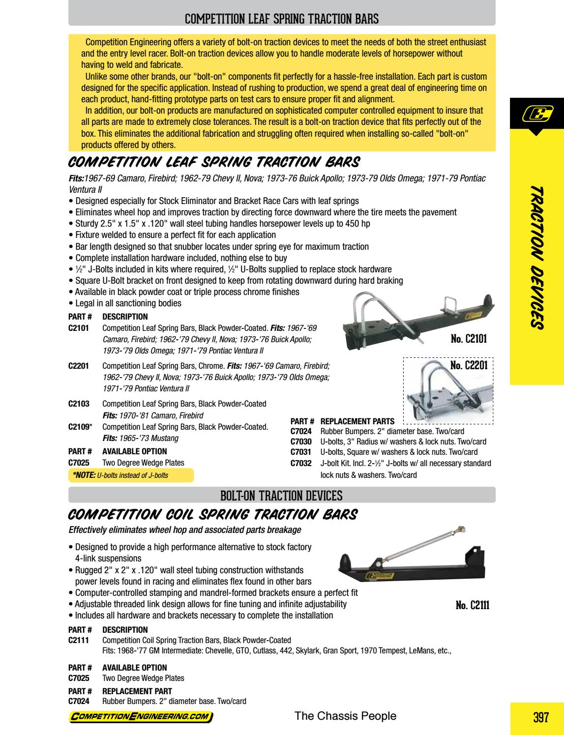 Competition Engineering C2103 Leaf Spring Traction Bar