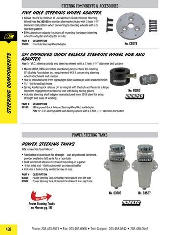 Moroso 63506 Universal Panel Mount Power Steering Tank