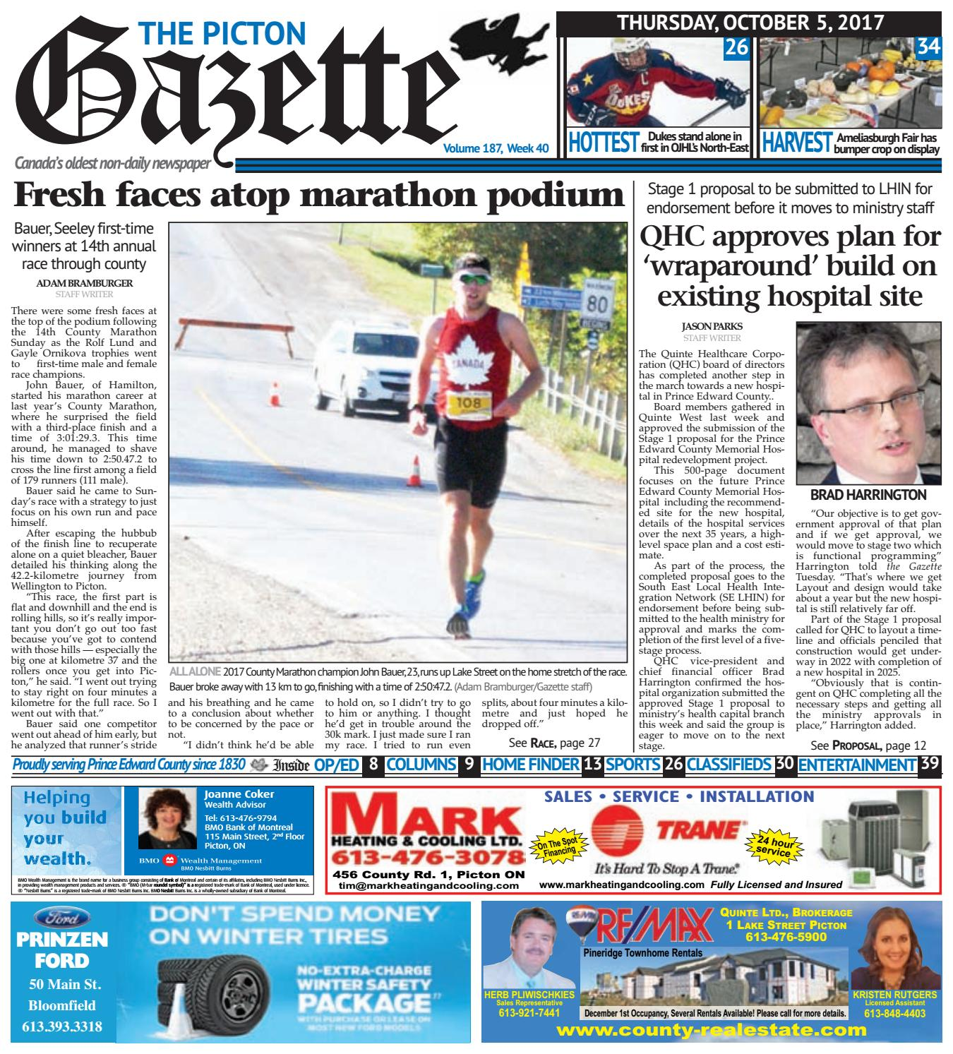 Picton Gazette October 5 2017 By The Issuu Wiring Money Bmo