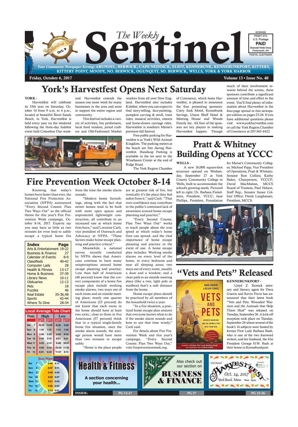 WS Oct  6, 2017 by Weekly Sentinel - issuu