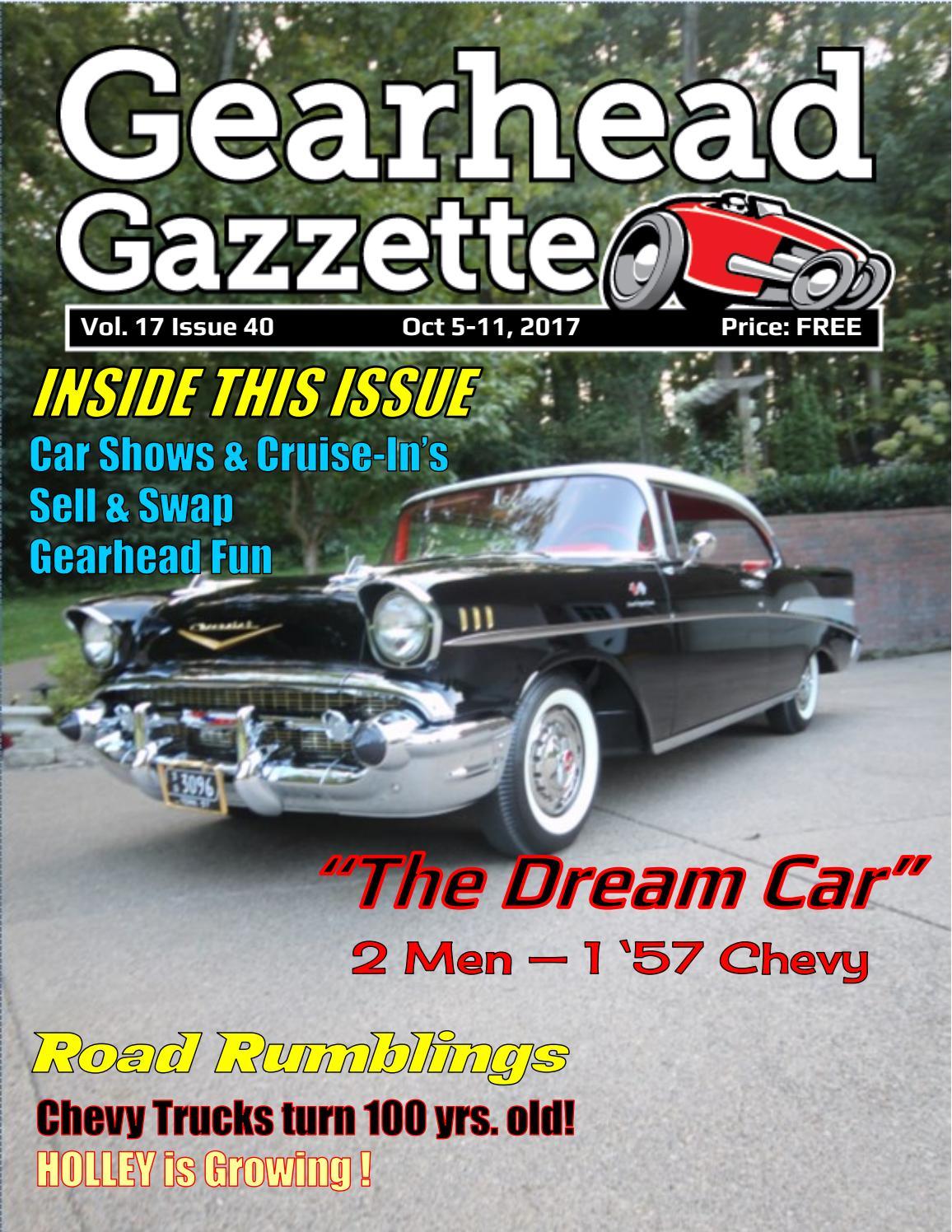 Gearhead Gazzette Vol 17 Issue 40 Oct 5-11, 2017 by Jimmy B - issuu