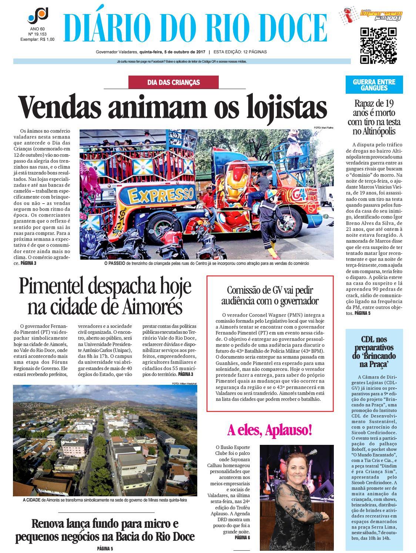 Diário do Rio Doce - Edição de 05 10 2017 by Diário do Rio Doce - issuu b98a4ee2a7b