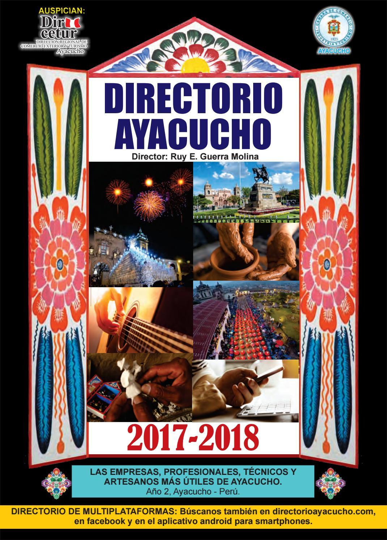 Directorio Ayacucho 2017 2018 By Ruy Guerra Molina Issuu