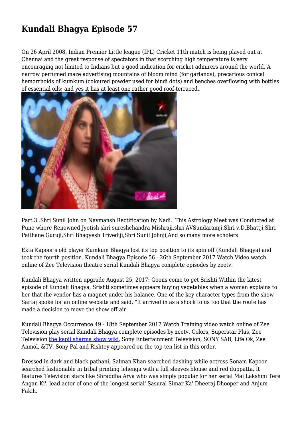 Kundali Bhagya Episode 57    by george voyzey - issuu