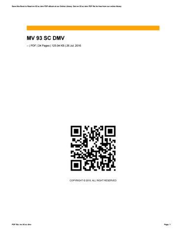 Sc Dmv Book