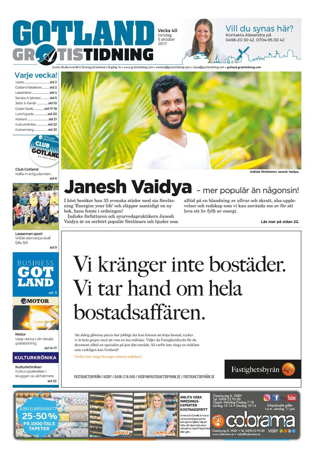 5578bd53833c Gotland Gratistidning by Svenska Civildatalogerna AB - issuu