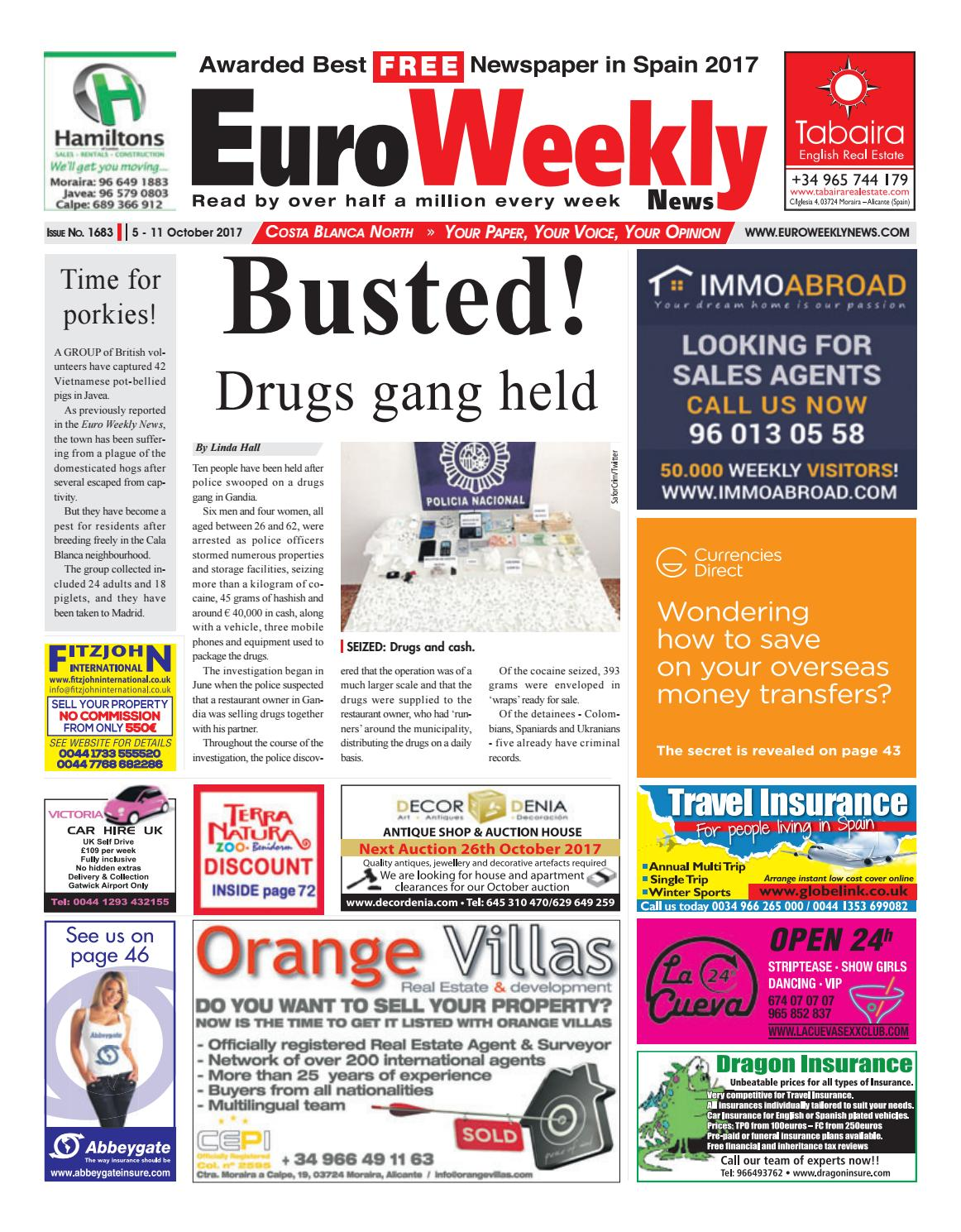 389348ac22e Euro Weekly News - Costa Blanca North 05 – 11 October 2017 Issue 1683