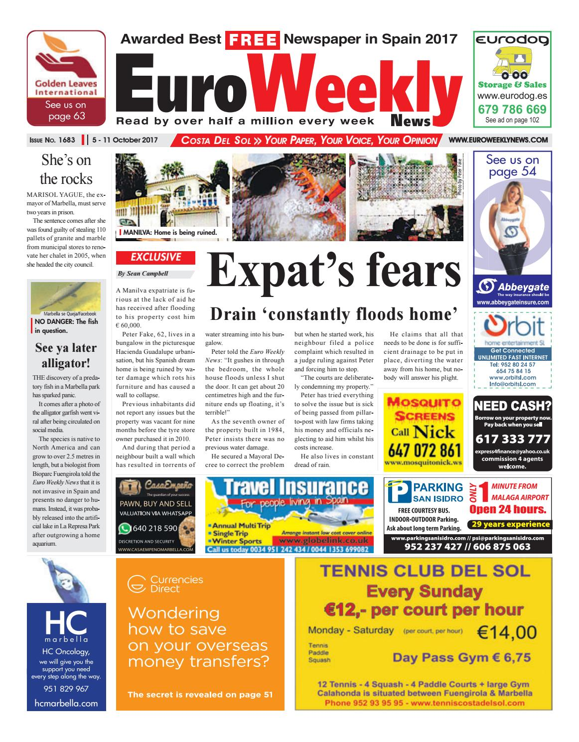 Euro Weekly News - Costa del Sol 05 – 11 October 2017 Issue 1683