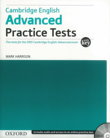 Cambridge english advanced practice test 4 10 2017 by EBOOK SOS LIB