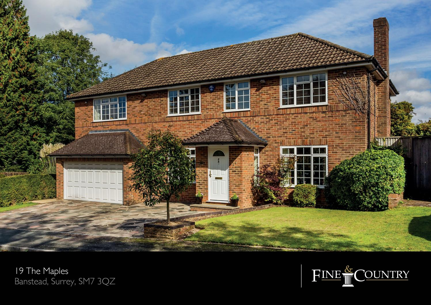 19 The Maples Banstead Surrey Sm7 3qz By Fine Country