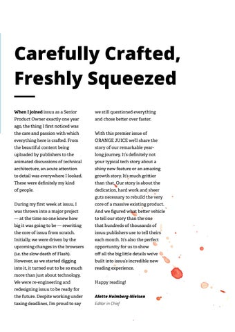 Page 5 of Carefully Crafted, Freshly Squeezed