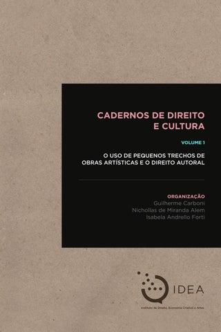 Cadernos de direito e cultura by instituto de direito economia page 1 fandeluxe Gallery