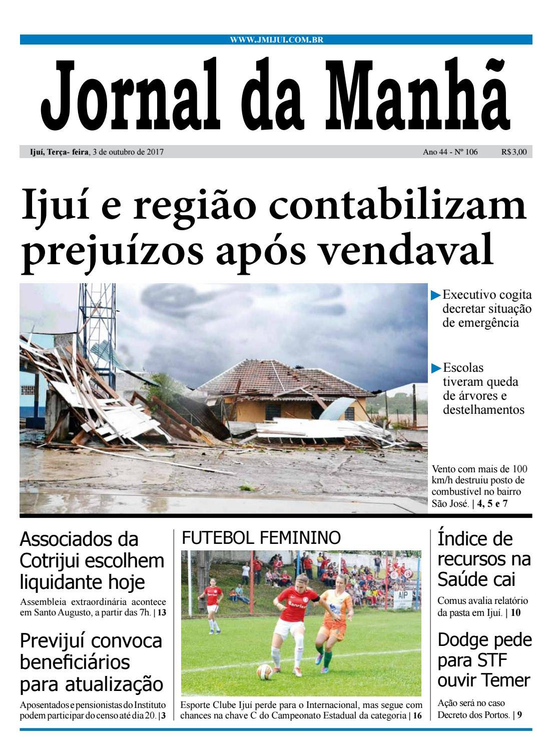 63529874659 Jornal da Manhã - Terça-feira - 03-10-17 by clicjm - issuu
