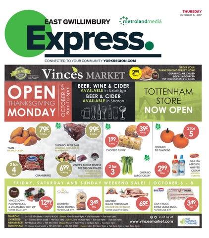 East Gwillimbury Express, October 5, 2017