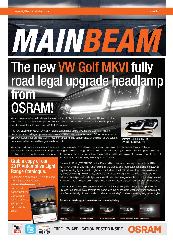 HQ Automotive H7 H1 W5W LED low high beam headlight bulbs lights XENON LOOK B