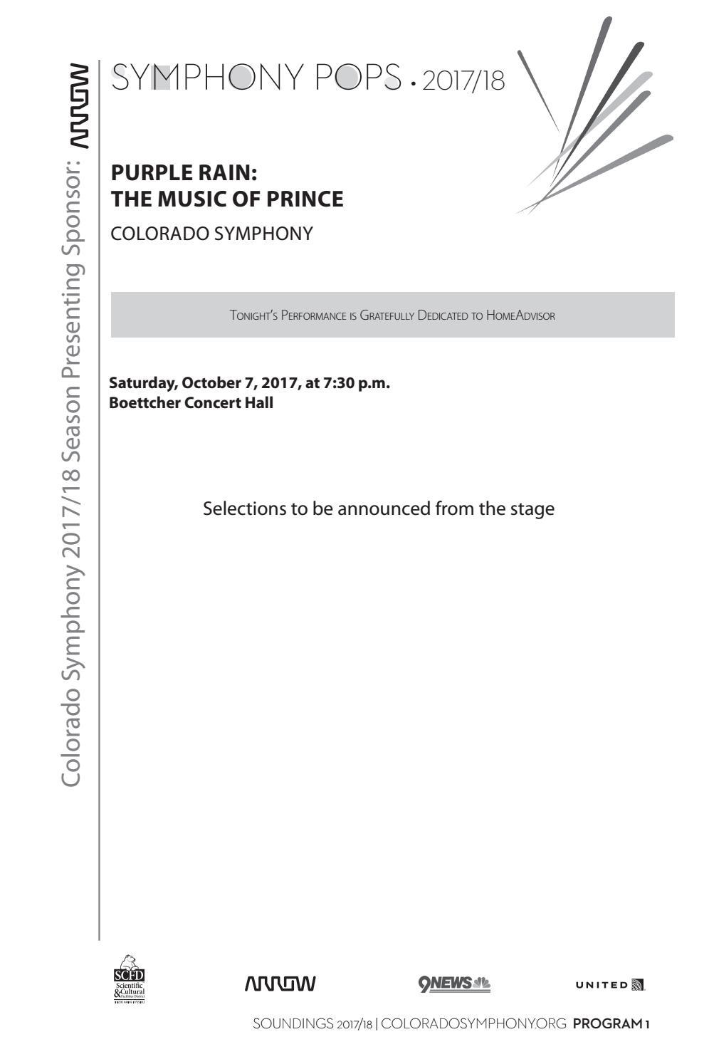 Program - Purple Rain: The Music of Prince by Colorado