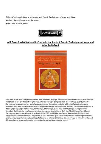Pdf swami satyananda saraswati