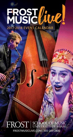 2017 18 Frost Music Live Brochure By University Of Miami Issuu