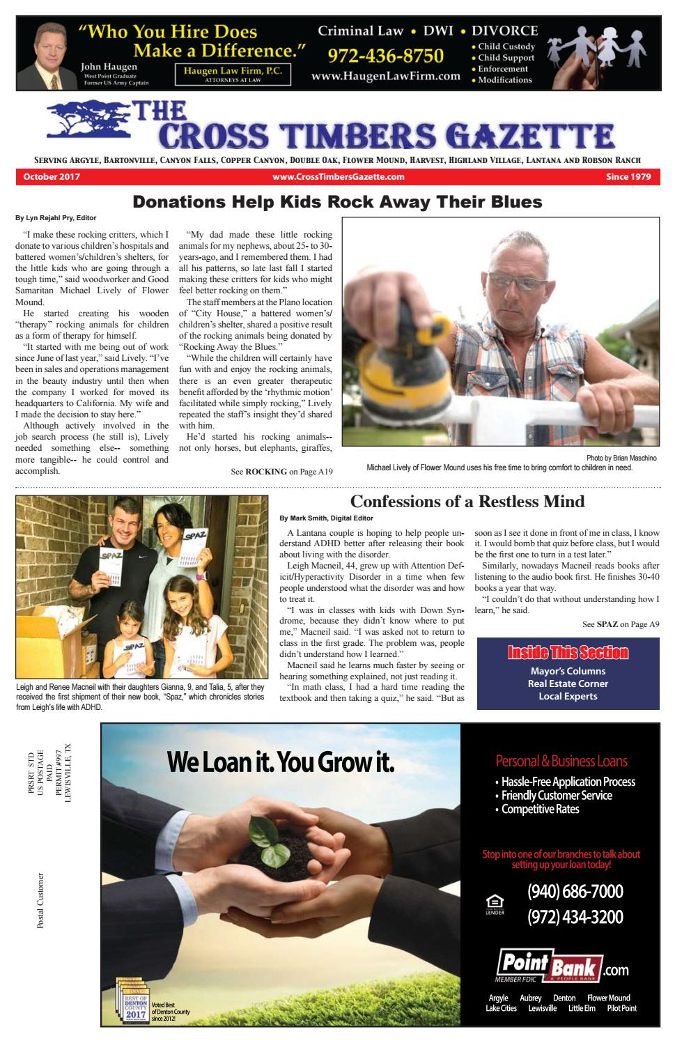 The Cross Timbers Gazette October 2017 by The Cross Timbers