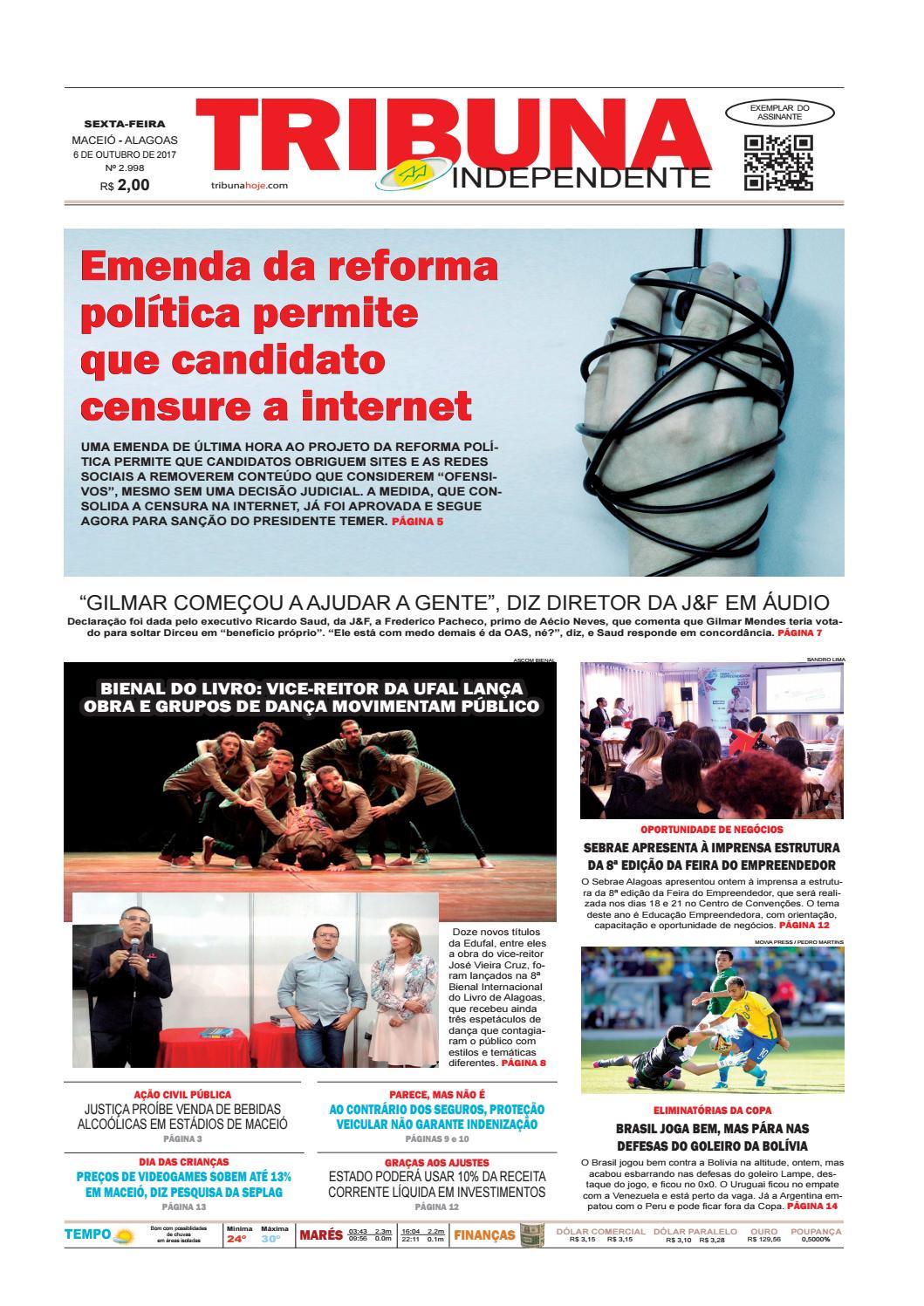 507ed0aaf68 Edição número 2998 - 6 de outubro de 2017 by Tribuna Hoje - issuu
