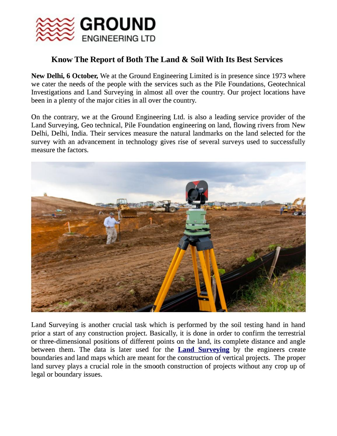 Know The Report of Both The Land & Soil With Its Best Services by