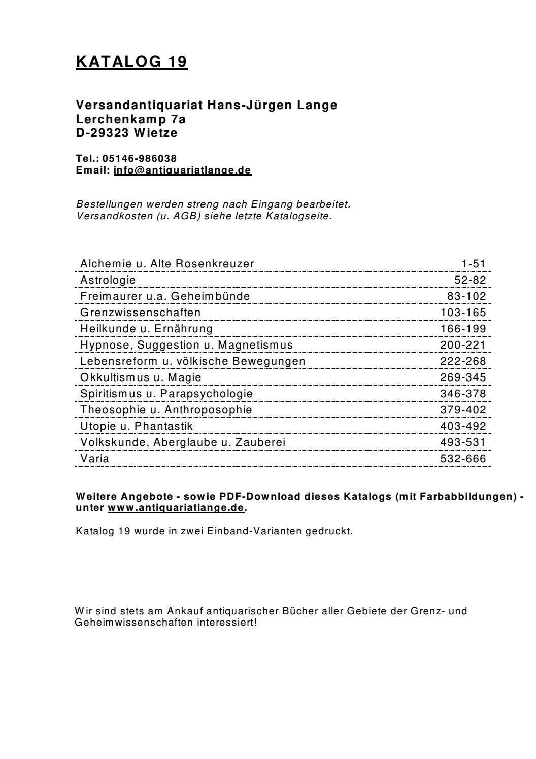 Versandantiquariat Hans-Jürgen Lange - Katalog19 by Versandantiquariat  Hans-Jürgen Lange - issuu