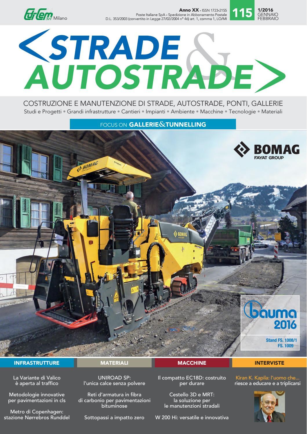 S&A 115 Gennaio-Febbraio 2016 by Strade&Autostrade - EDI-CEM