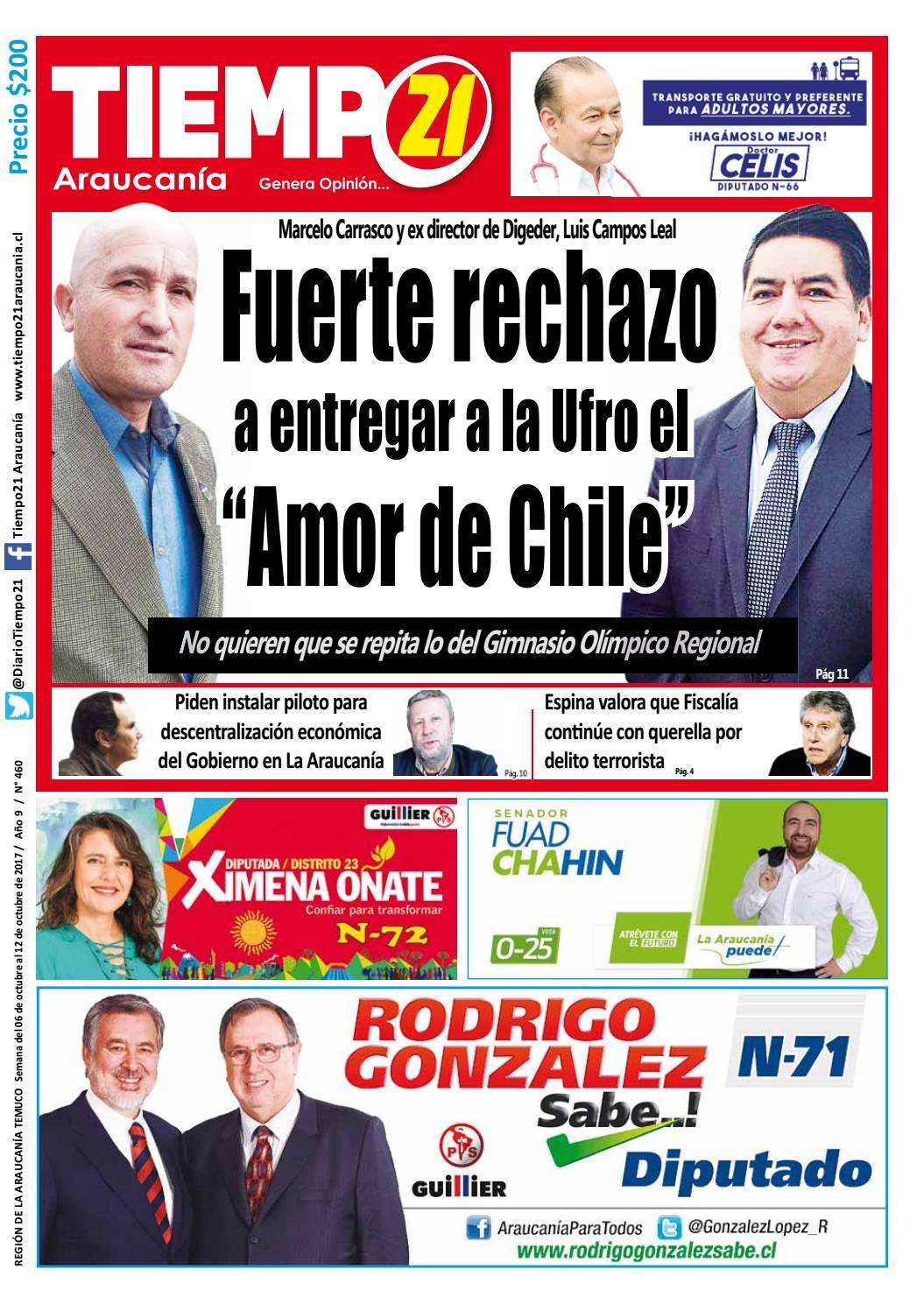 Edici N 460 Fuerte Rechazo A Entregar A La Ufro El Amor De Chile  # Muebles Fourcade Limitada