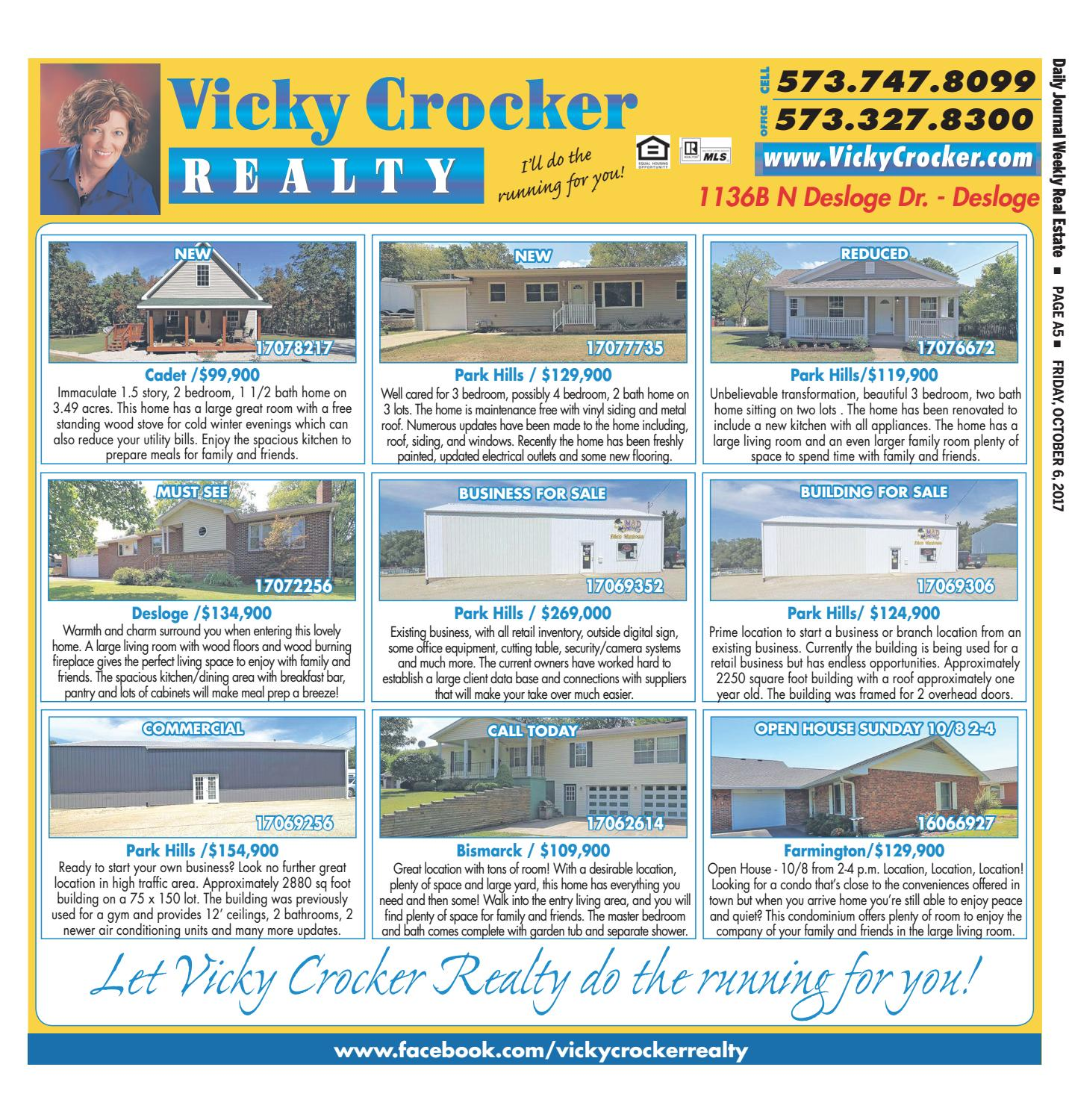 Weeklyrealestate october 6 2017 by Daily Journal Online - issuu