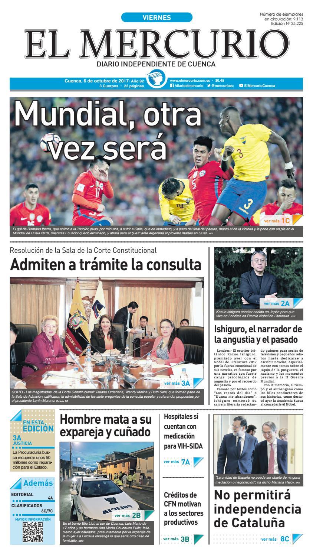 hemeroteca 06-10-2017 by Diario El Mercurio Cuenca - issuu b2de2860d71