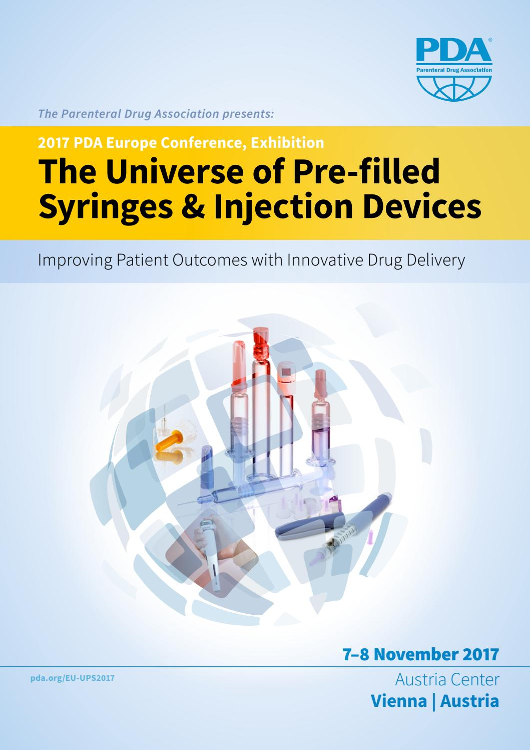 2017 PDA Europe The Universe of Pre-filled Syringes and Injection