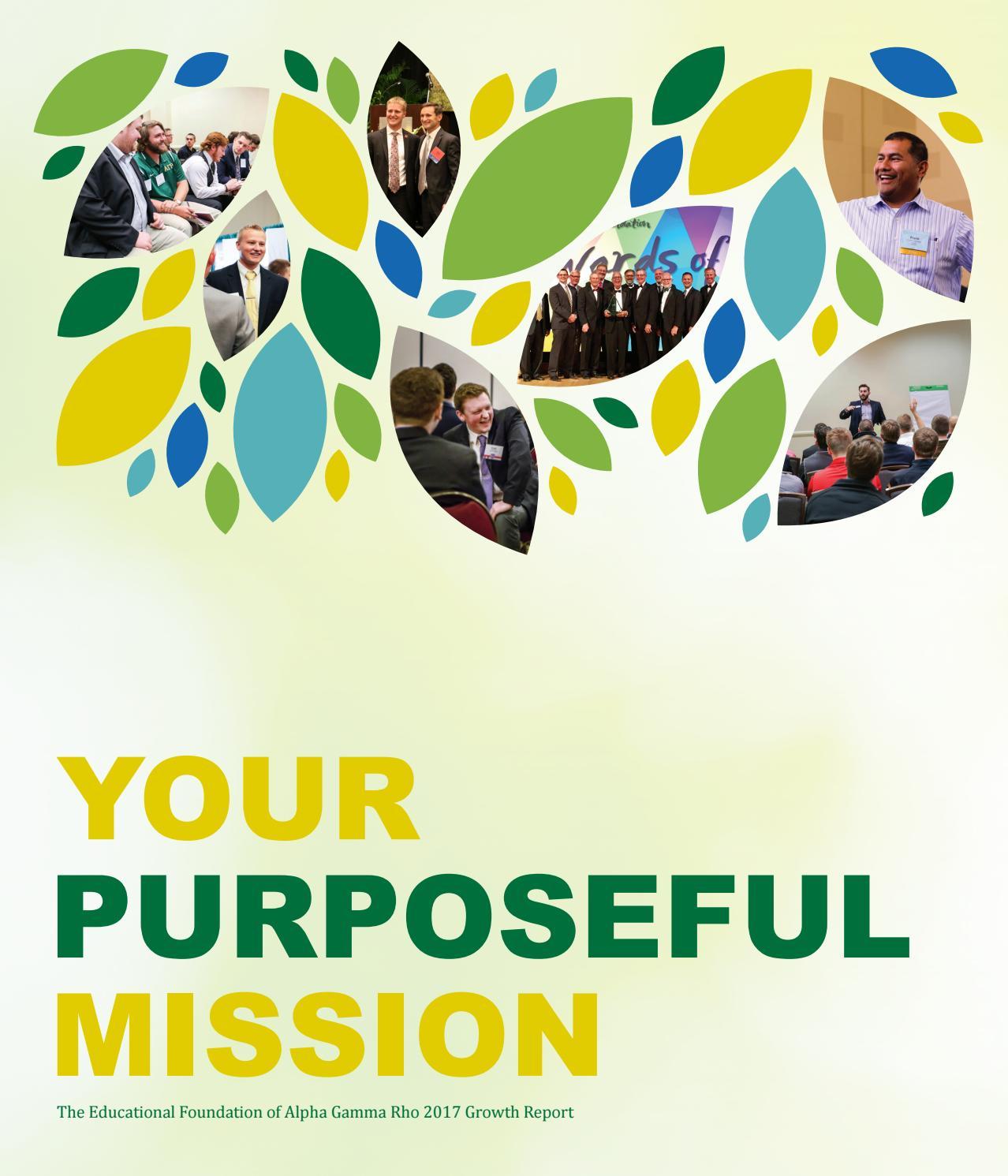 Your Purposeful Mission By Alpha Gamma Rho Issuu