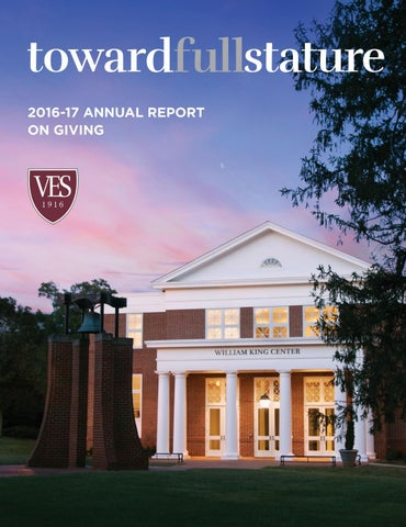 Virginia Episcopal School - 2016-17 Annual Report on Giving by VES_