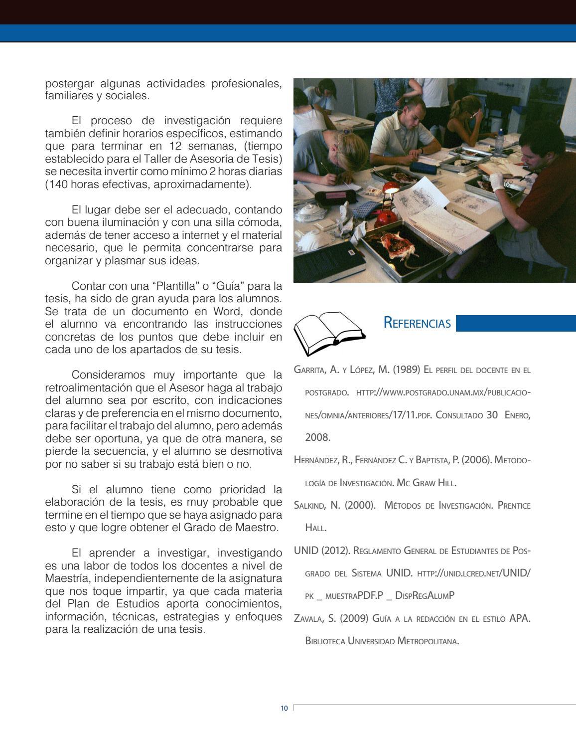 UNID   Vita et Labor No. 16   Investigación en México by RedUNID - issuu