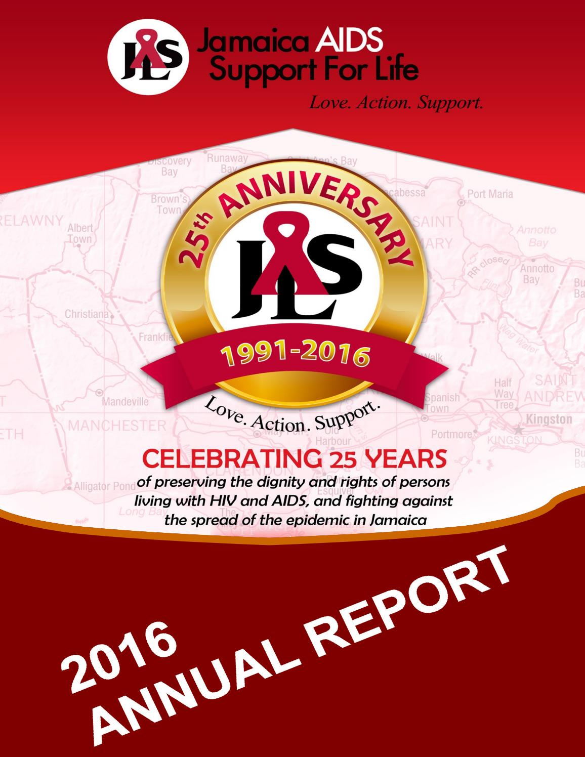 Annual Report 2016 By Jamaica Aids Support For Life Issuu
