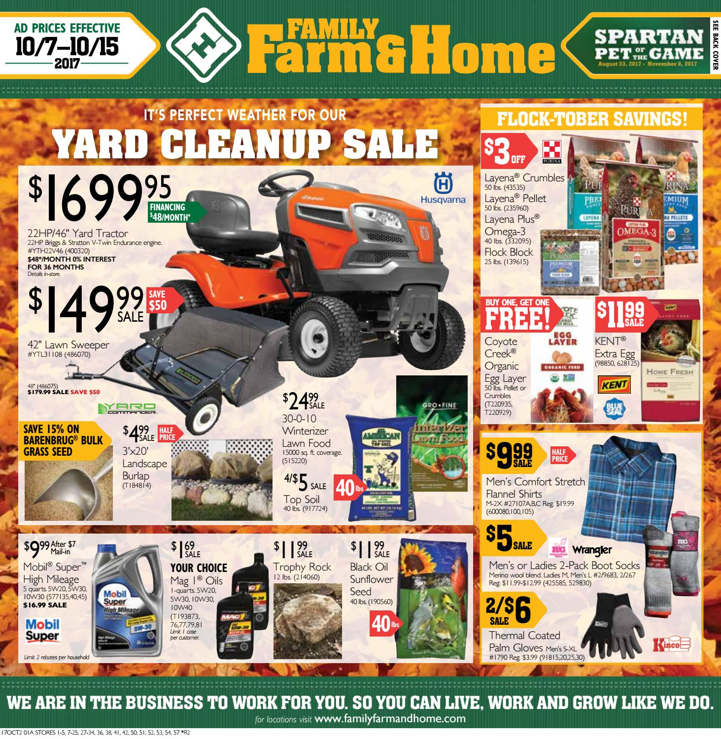 Family Farm & Home OCT2 Ad (Effective October 7-15, 2017) by