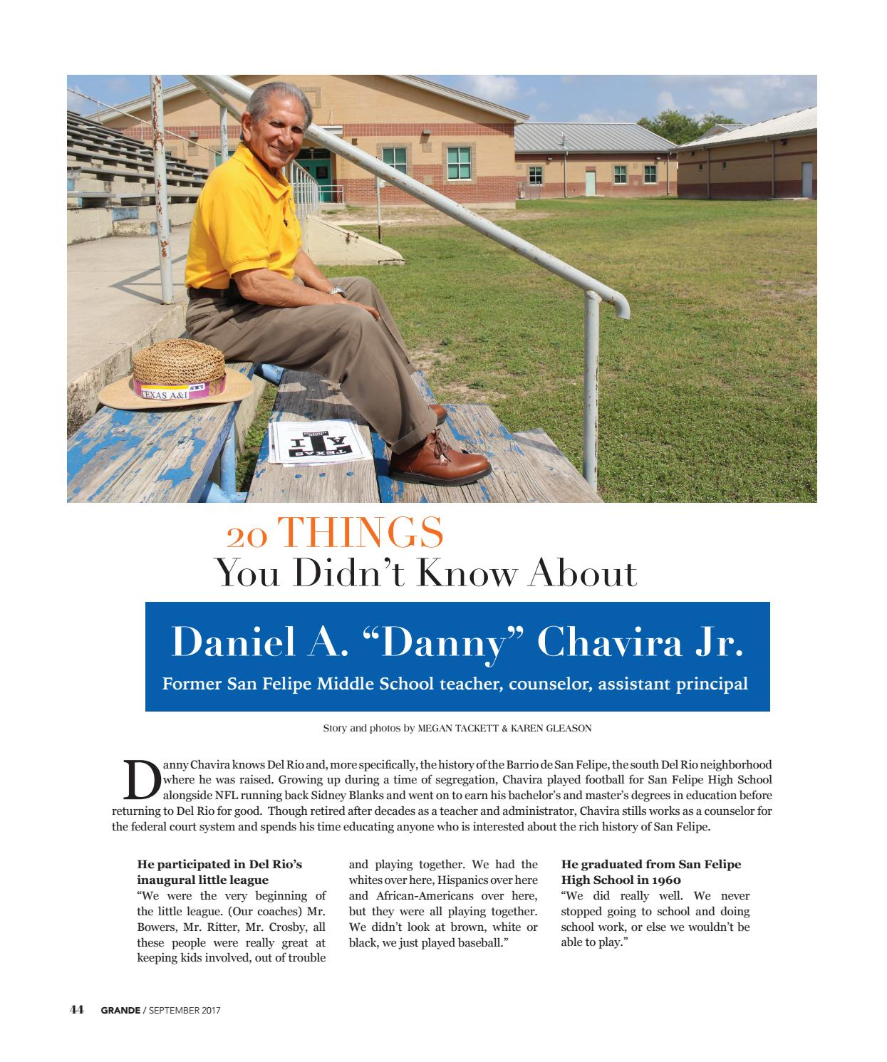 20 Things You Didnt Know About Play >> Del Rio Grande 0917 By Del Rio News Herald Issuu