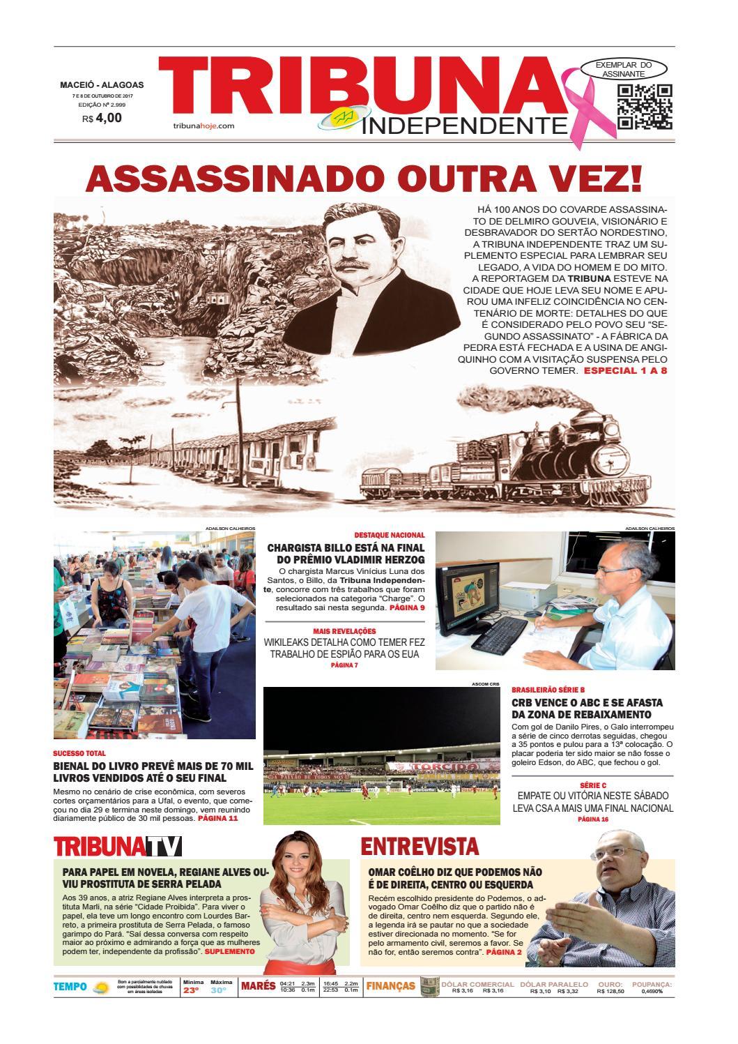 0cb536bc1b3a4 Edição número 2999 - 7 e 8 de outubro de 2017 by Tribuna Hoje - issuu