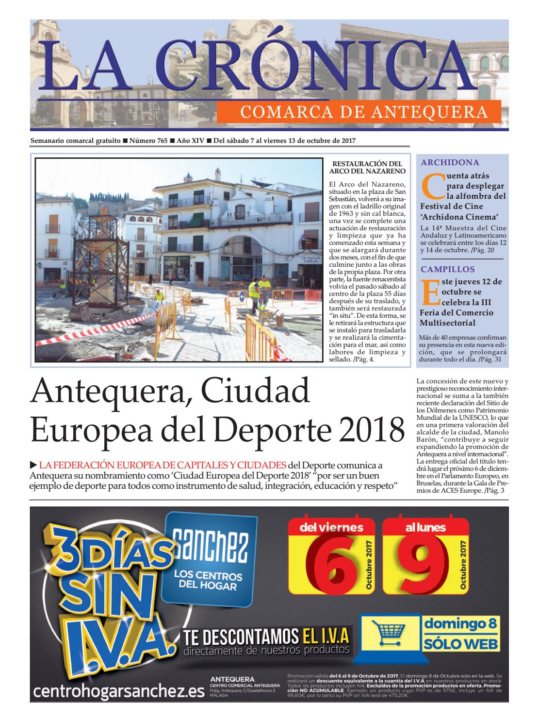 LA CRÓNICA 765 by LA CRÓNICA COMARCA DE ANTEQUERA - issuu