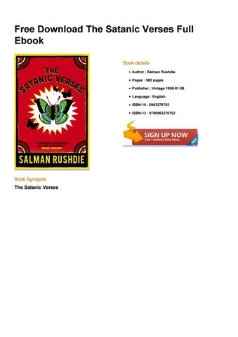 Salman rushdie satanic verses free download pdf.