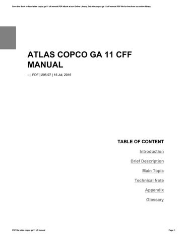 page_1_thumb_large atlas copco ga 11 cff manual by astutuik93mujie issuu