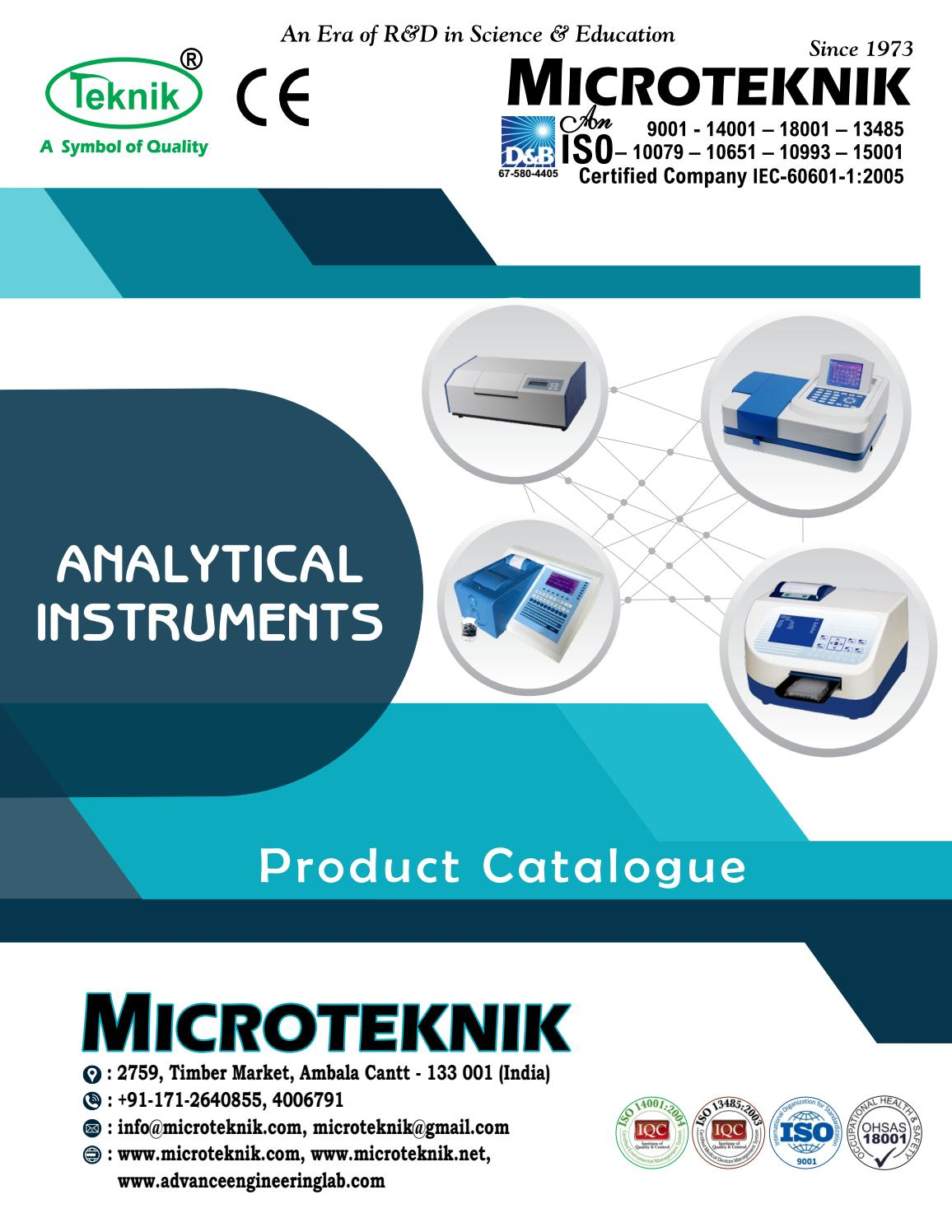 Analytical instruments manufacturer supplier dealer and exporter analytical instruments manufacturer supplier dealer and exporter of scientific equipment by microteknik issuu biocorpaavc