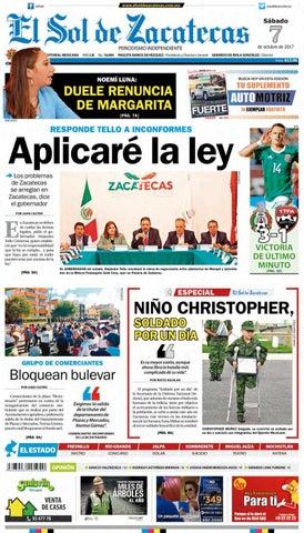 f10c60ba51 El Sol de Zacatecas 7 de octubre 2017 by El Sol de Zacatecas - issuu