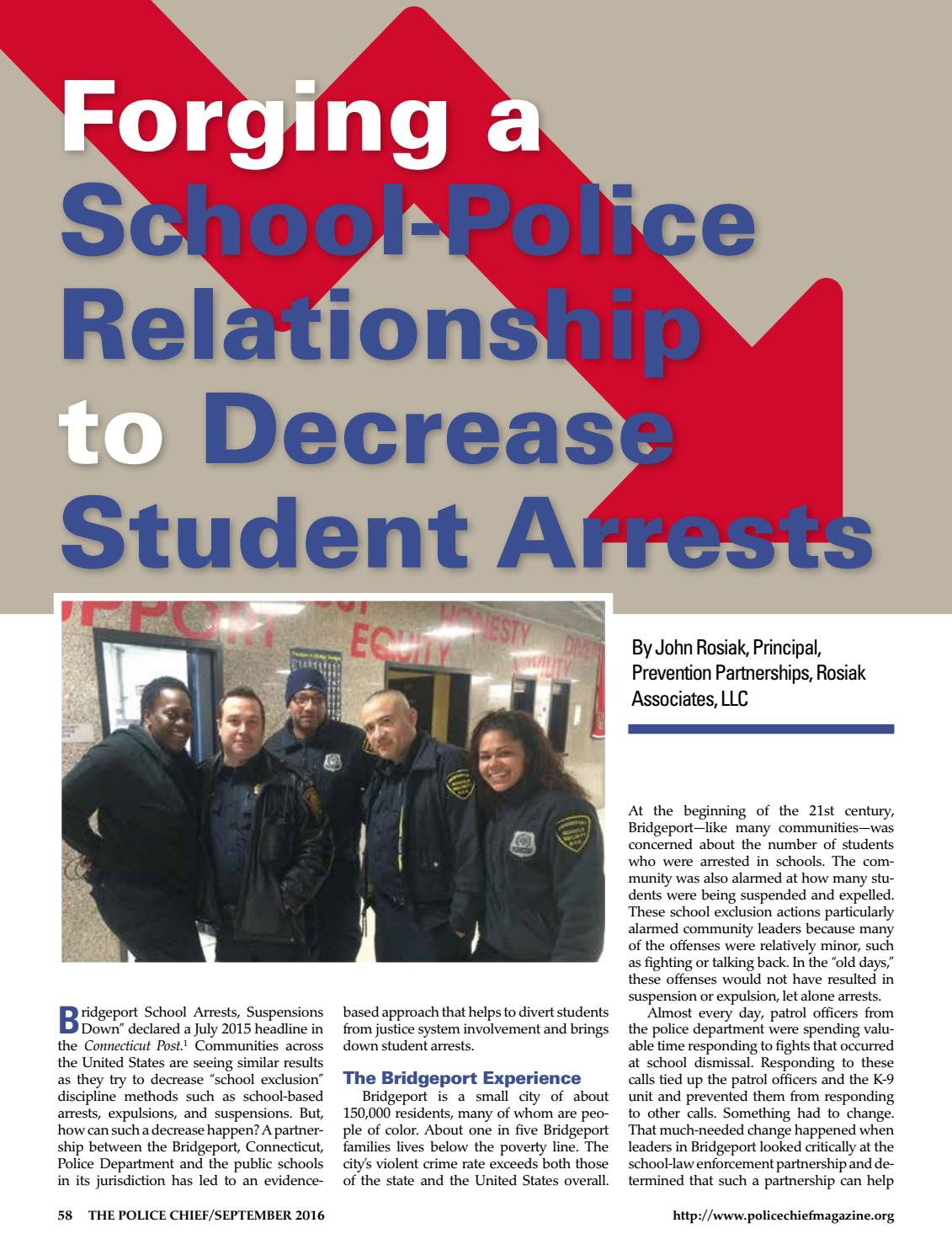 Suspensions Expulsions Arrests Dont >> Police Chief Mag Rosiak Decreasing Student Arrests Sept 2016 No Ads