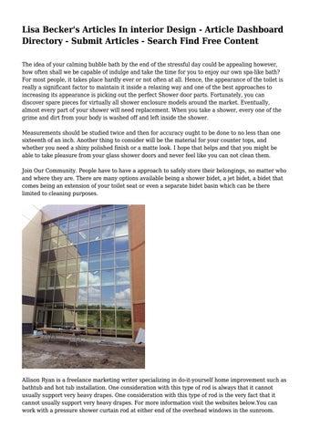 Lisa Beckers Articles In Interior Design