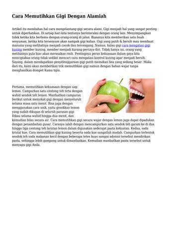 Cara Memutihkan Gigi Dengan Alamiah By Mrkesehatanpusat Issuu