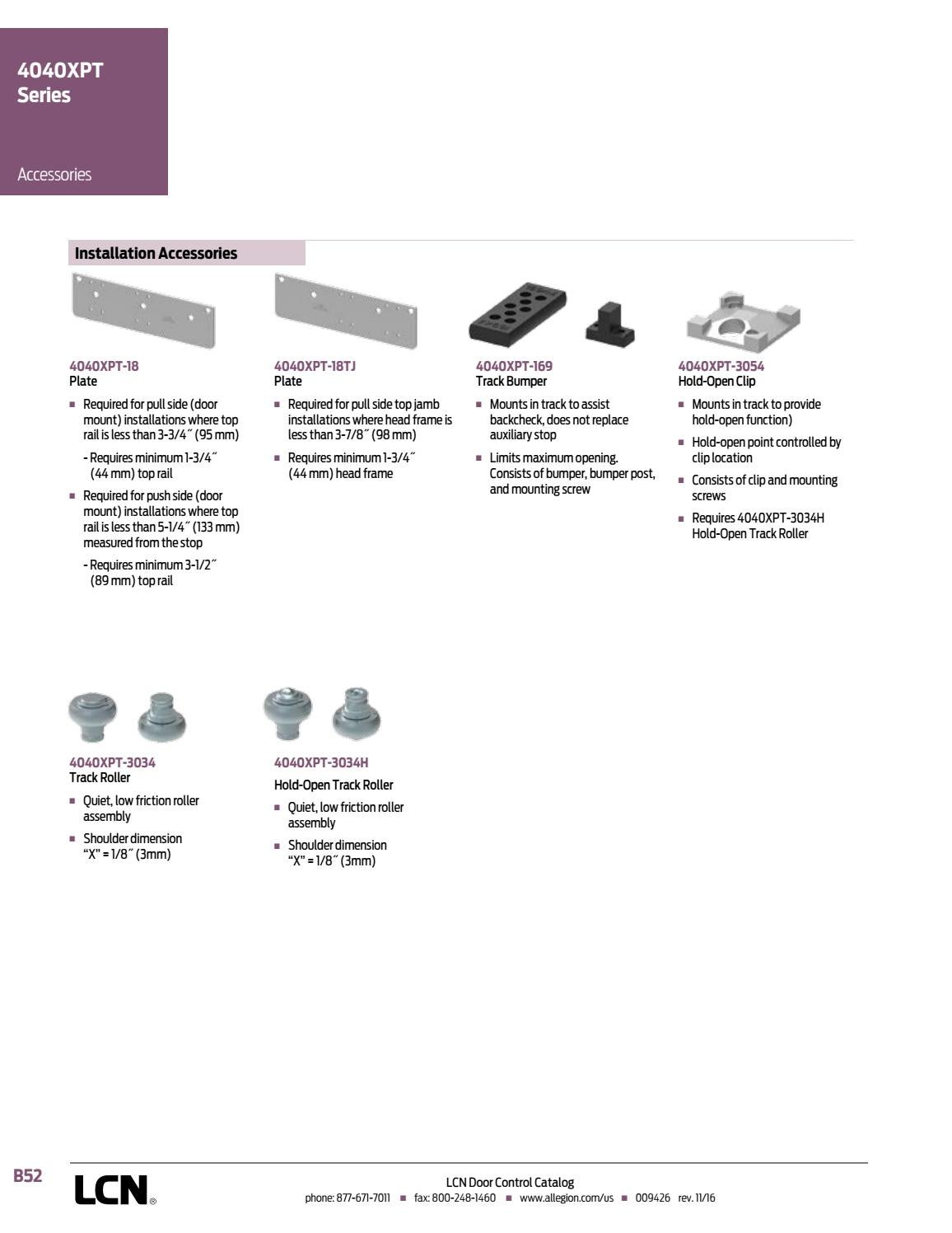 LCN Door Controls by Horner Millwork - issuu