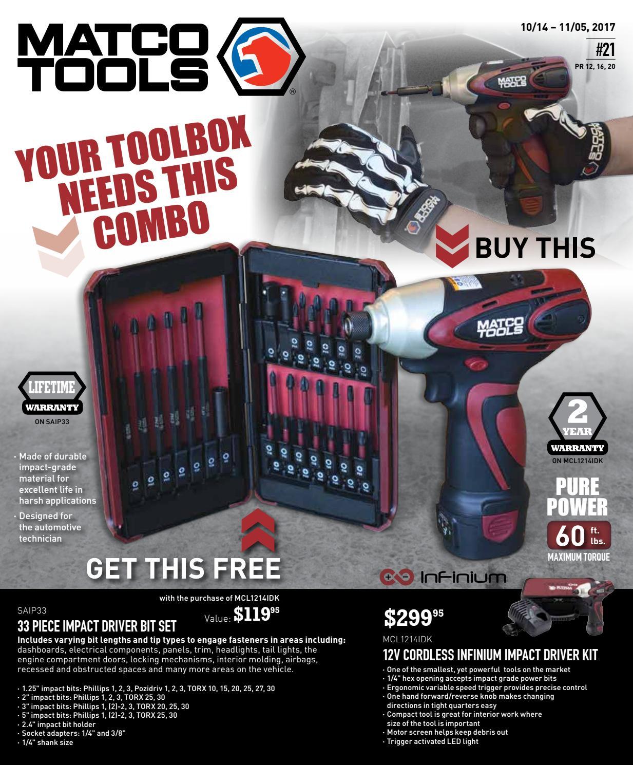 Matco Tools Flyer #21 by Dean Austin - issuu