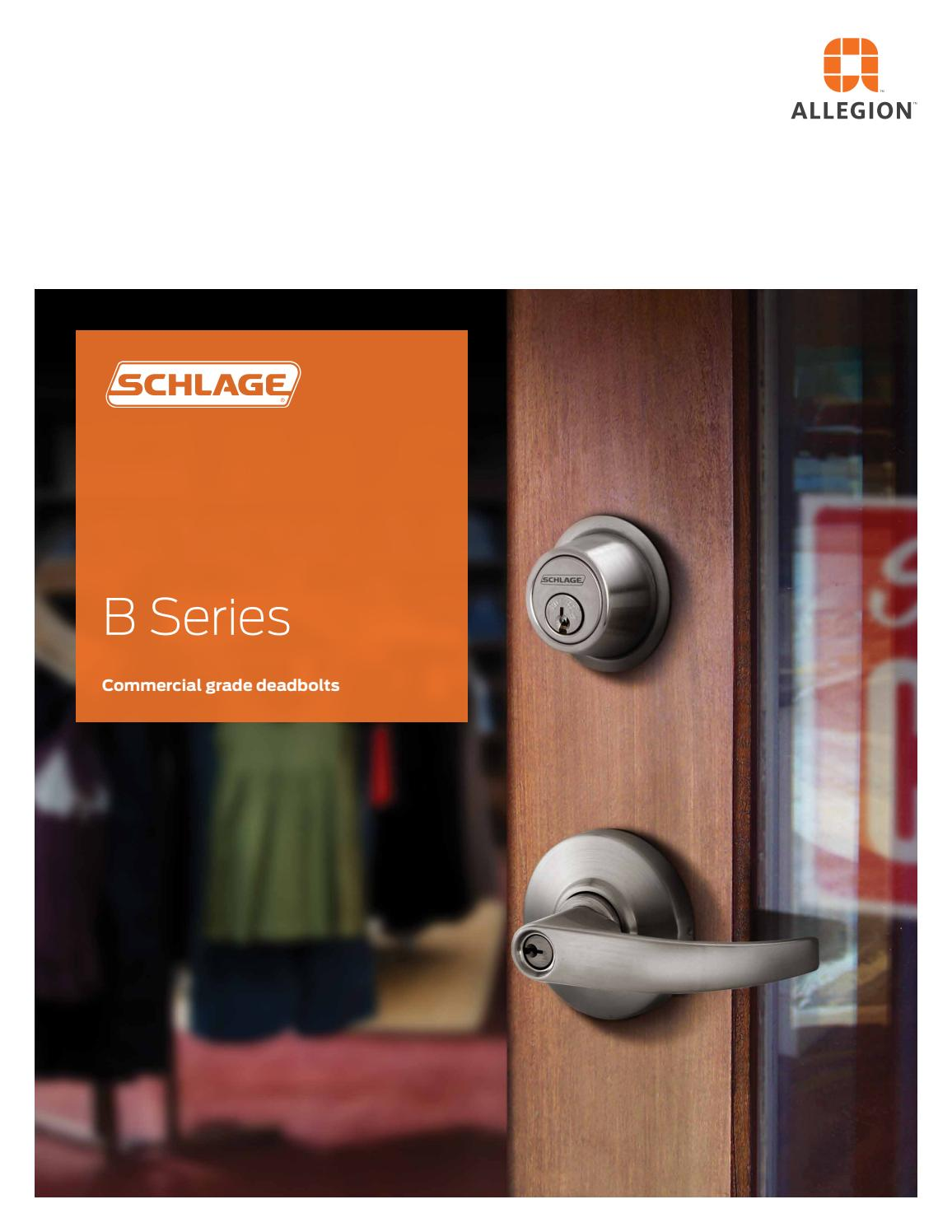 C Keyway Bright Brass Finish Schlage B562P 605 C Keyway Series B500 Grade 2 Deadbolt Lock Double Cylinder Function