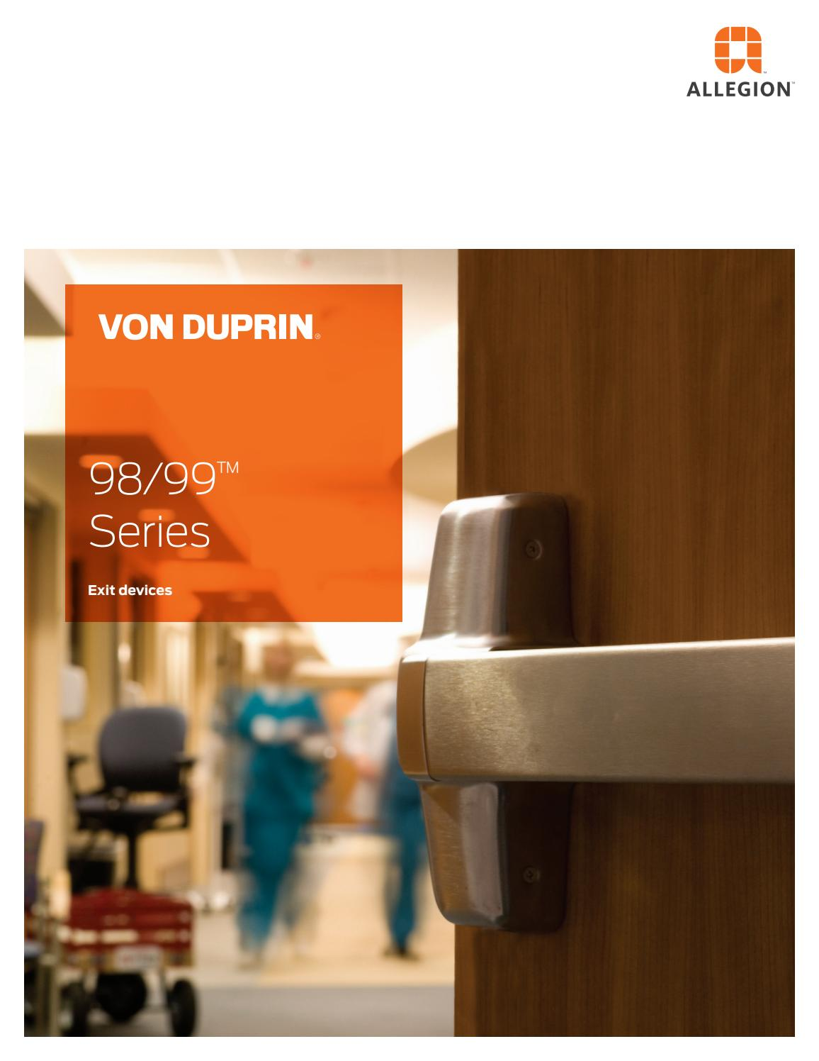 4 4/' Top Notch Distributors Von Duprin 98EO4A4 98EO 4A Rim Device